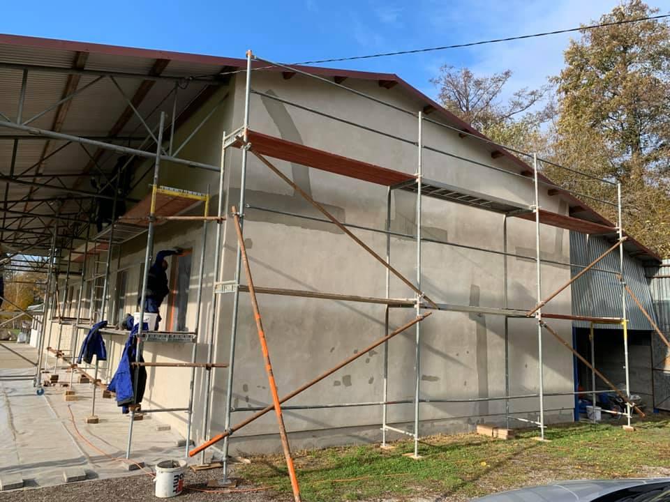 Oprava fasády kabín Machulince